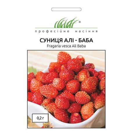 Семена земляники альпийская ремонтантная Али-Баба